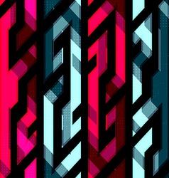 vintage crystal geometric seamless pattern vector image