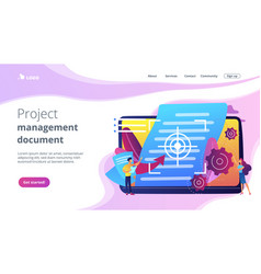 Vision and scope document concept landing page vector