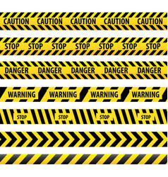 warning tape danger tape vector image