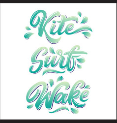 Water extreme sport lettering set in graffiti vector