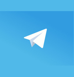 White paper plane on blue background vector