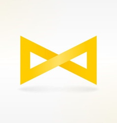 Yellow Infinity Symbol vector