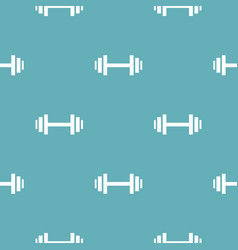 barbell pattern seamless blue vector image