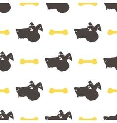 Dog Seamless Animal Pattern vector image vector image