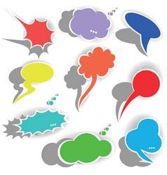 paper origami speech bubble dialog cloud vector il vector image vector image