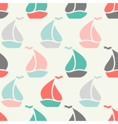 Sailboat shape seamless pattern vector image