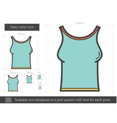 Tank t-shirt line icon vector