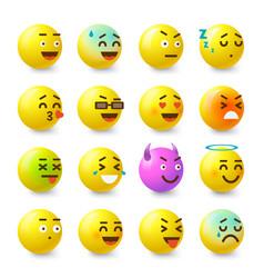 smile icons set isometric style vector image
