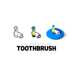 Toothbrush icon in different style vector image