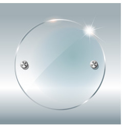 Transparent round circle see through element on vector