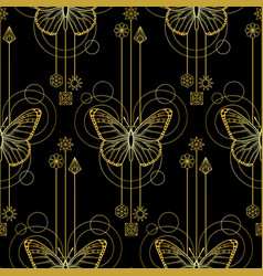Abstract butterfly seamless vector