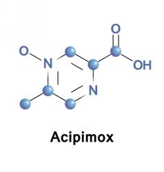 Acipimox lipid lowering agent vector