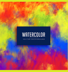 bright abstract watercolor stain background vector image
