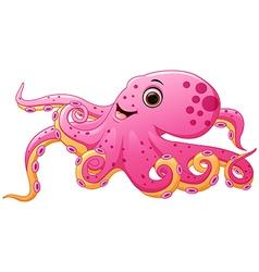 Cute octopus cartoon vector image