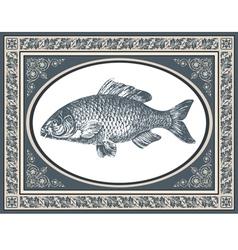fish antique vector image