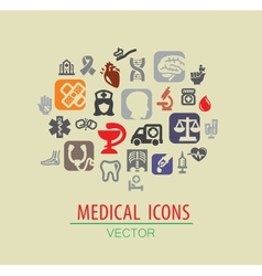 medical icon set vector image vector image