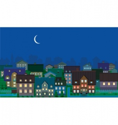 townhouses night vector image