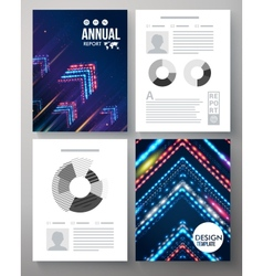 Artistic annual report template vector image vector image