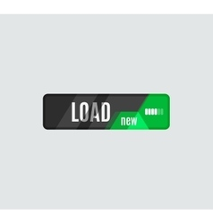 Load button futuristic hi-tech UI design vector image