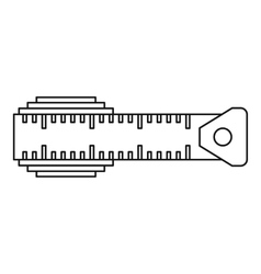 Measuring centimeter icon outline style vector