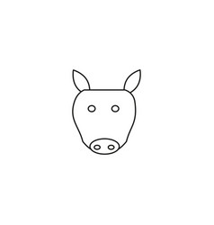 pig head line icon outline sign linear style vector image