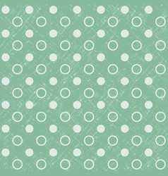 retro seamless polka dot green background vector image