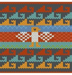 Seamless traditional peru knitting pattern vector