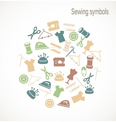 Sewing symbols vector image vector image