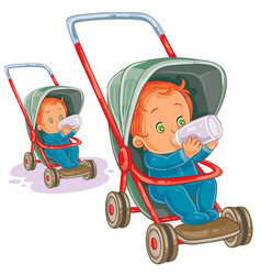 a baby sitting in a baby vector image