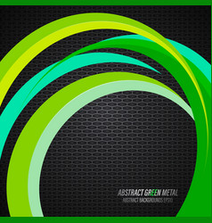 Abstract green colors texture on metal scene vector