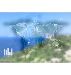 Abstract infographics design Gradient mesh vector image