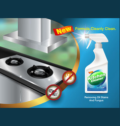 Ad kitchen cleaner formula vector