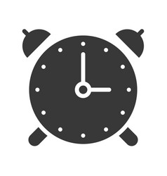 alarm clock pixel perfect design vector image