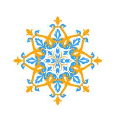 Arabic floral ornament vector