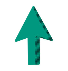 Arrow sign up direction icon vector