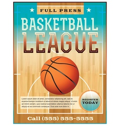 Basketball League Flyer or Poster vector