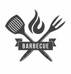 Bbq grill and barbecue restaurant logo menu vector