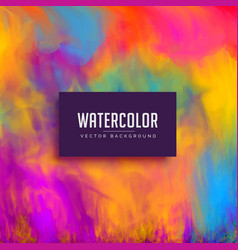 Beautiful watercolor background with flowing ink vector