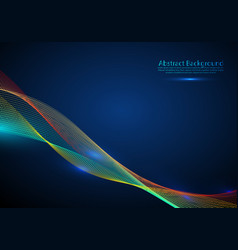 beautiful wave shaped array glowing vector image