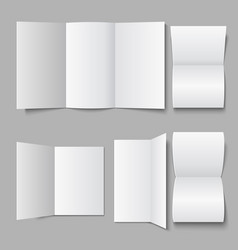 Blank white document leaflet 3d advertising vector