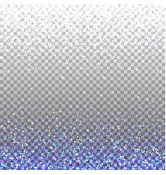 Blue glitter background blue sparkles on border vector