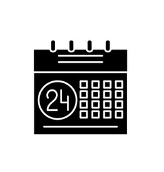 calendar planning system black icon sign vector image