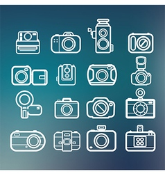 Camera icons of abstract blur backgrounds eps10 vector image