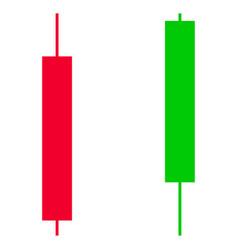 Candlesticks flat icon vector