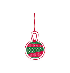 cartoon garland christmas decoratives design vector image