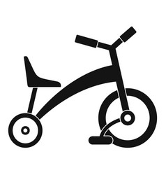 children tricycle icon simple style vector image