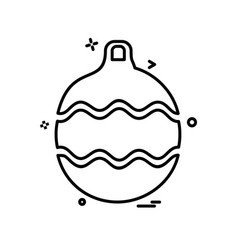christmas balls icon design vector image
