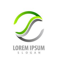 circle line letter s logo concept design symbol vector image