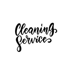 cleaning service - lettering logo on white vector image