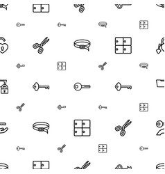 Close icons pattern seamless white background vector